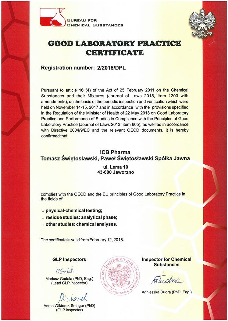 GLP Certificate_2018