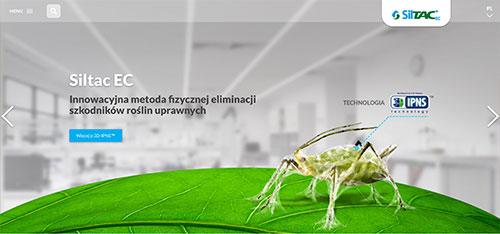 Siltac screen strony internetowej
