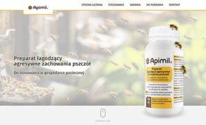 Apimil-screen strony internetowej