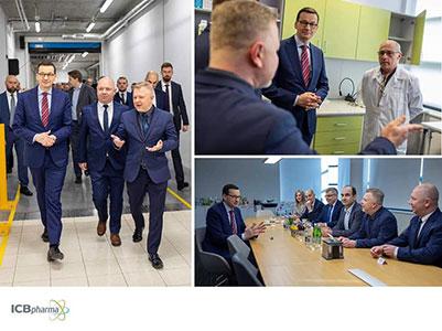 Wizyta Prezesa Rady Ministrów w ICB Pharma