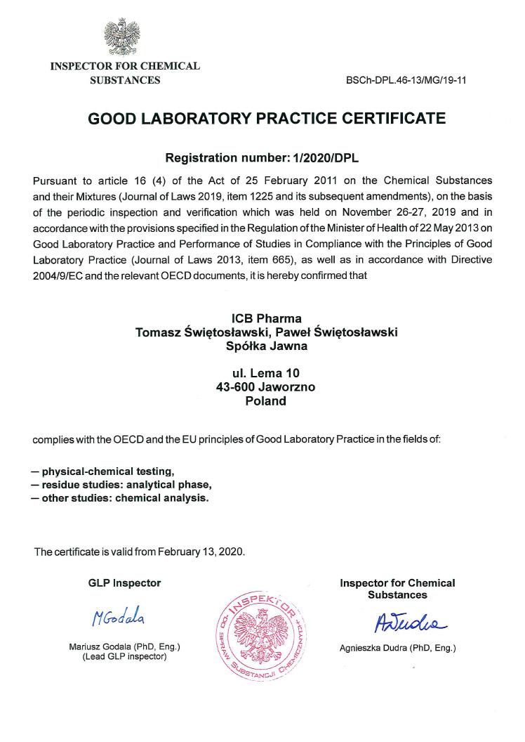 GLP Certificate_2020