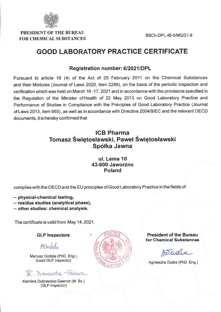 GLP Certificate_2021