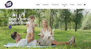 Kick The Tick - website screenshot