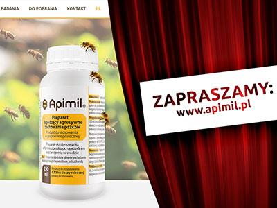 Zapraszamy na nową stronę Apimil.pl - grafika