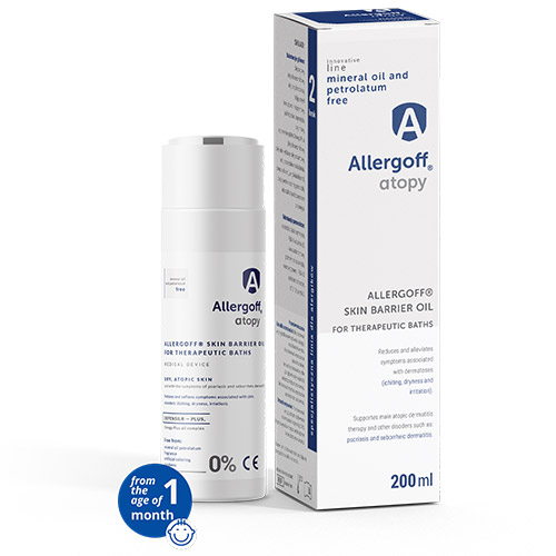 Allergoff Atopy skin barrier oil - visualisation