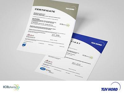 Zdjęcie certyfikatów ISO